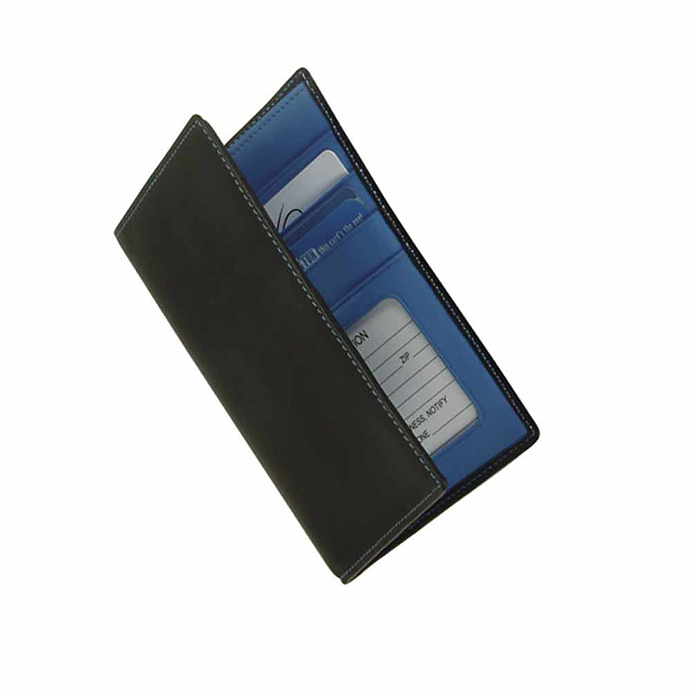Royce Leather Passport Currency Wallet - Royce Blue - Travel Accessories, Travel Wallets