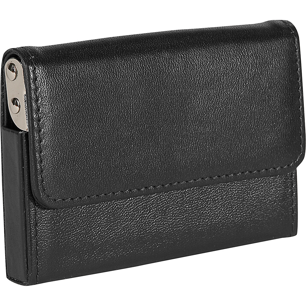 Royce Leather Horizontal Framed Card Case - Black - Work Bags & Briefcases, Business Accessories