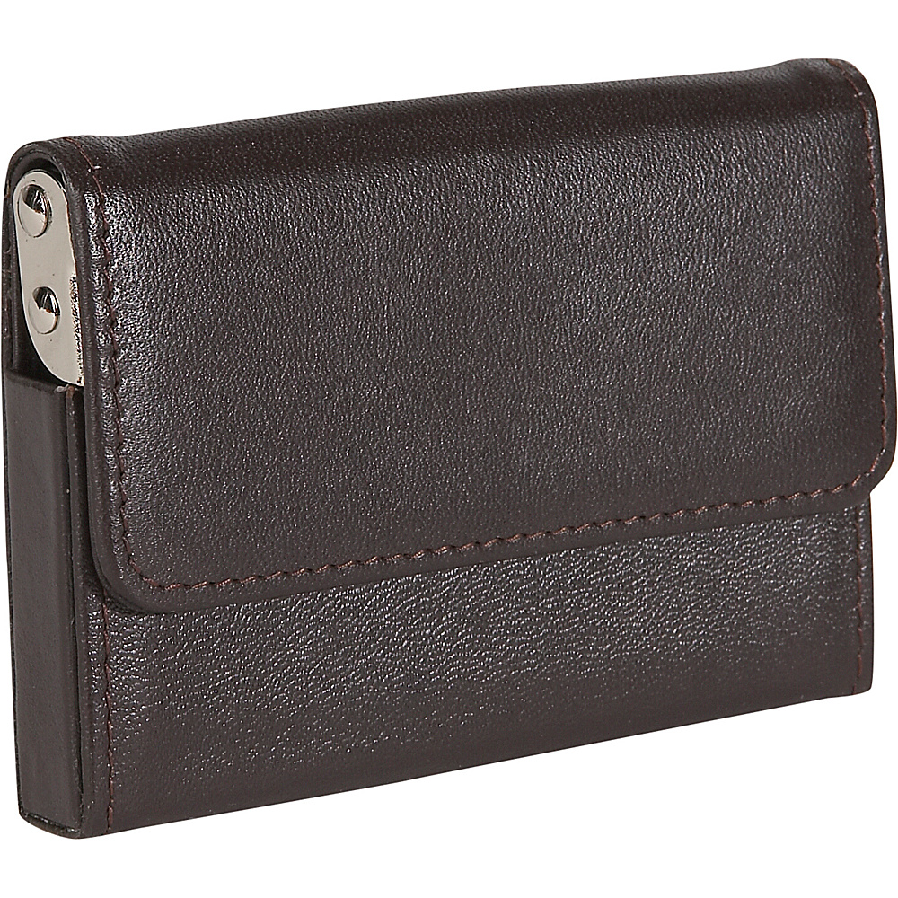 Royce Leather Horizontal Framed Card Case - Brown - Work Bags & Briefcases, Business Accessories