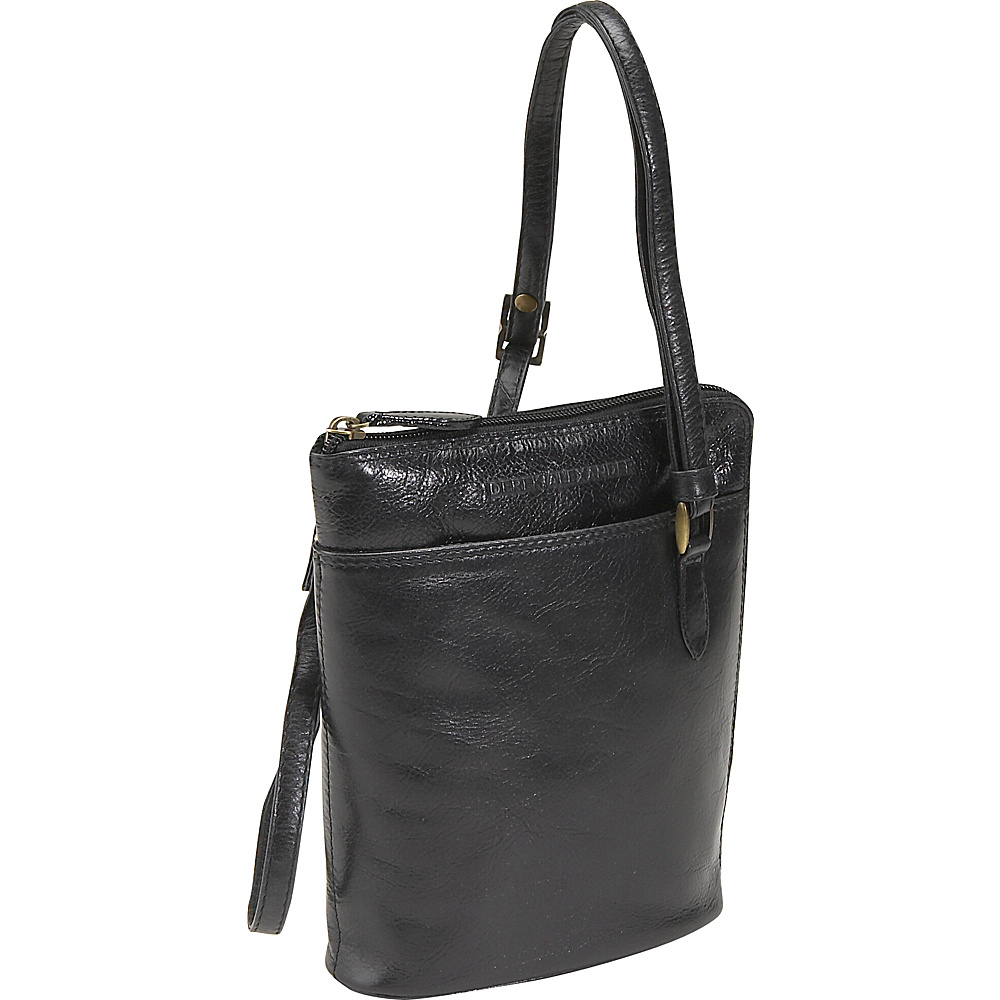 Derek Alexander Top Zip Mini - Black - Handbags, Leather Handbags