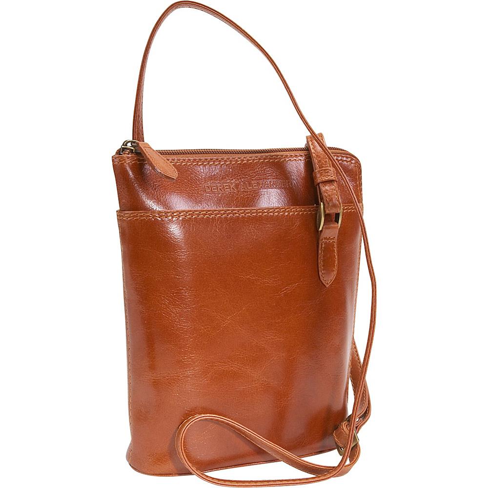 Derek Alexander Top Zip Mini - Tan - Handbags, Leather Handbags