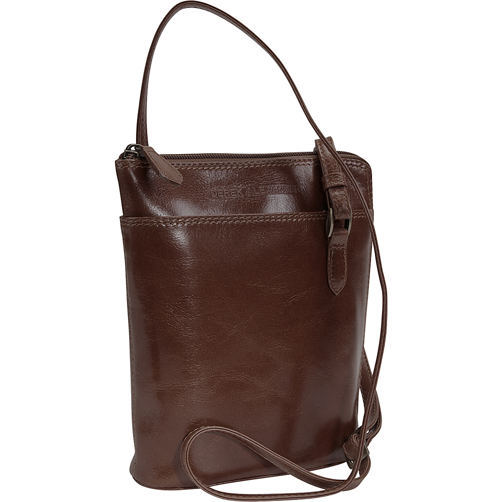 Derek Alexander Top Zip Mini - Coffee - Handbags, Leather Handbags