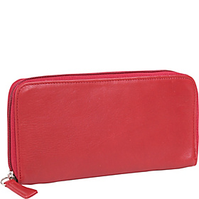 Cashmere Zipper Clutch Wallet Red