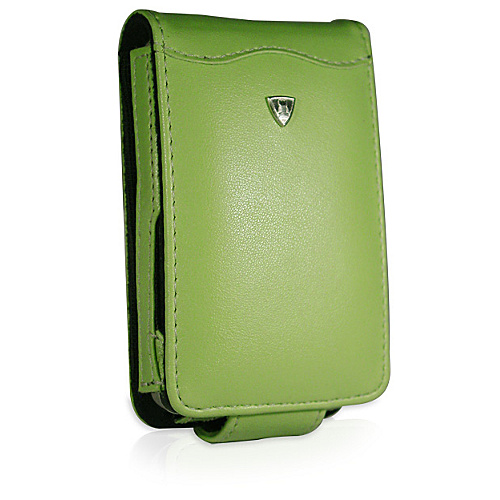 Fortte iPod Video 30 / 60GB Flip Style Leather PDA Case (No Clip) Coral Green - Fortte Personal Electronic Cases