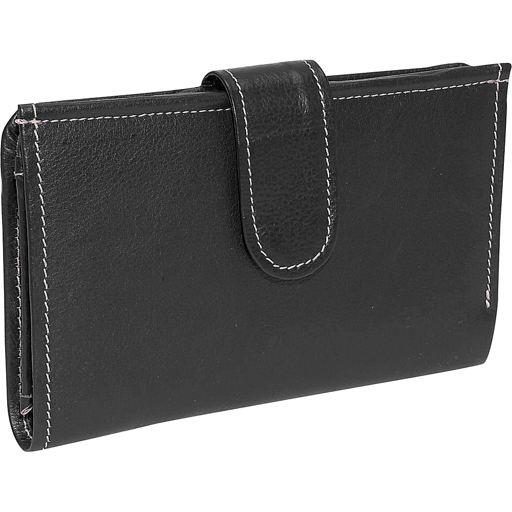 Piel Ladies Wallet - Black - Women's SLG, Women's Wallets