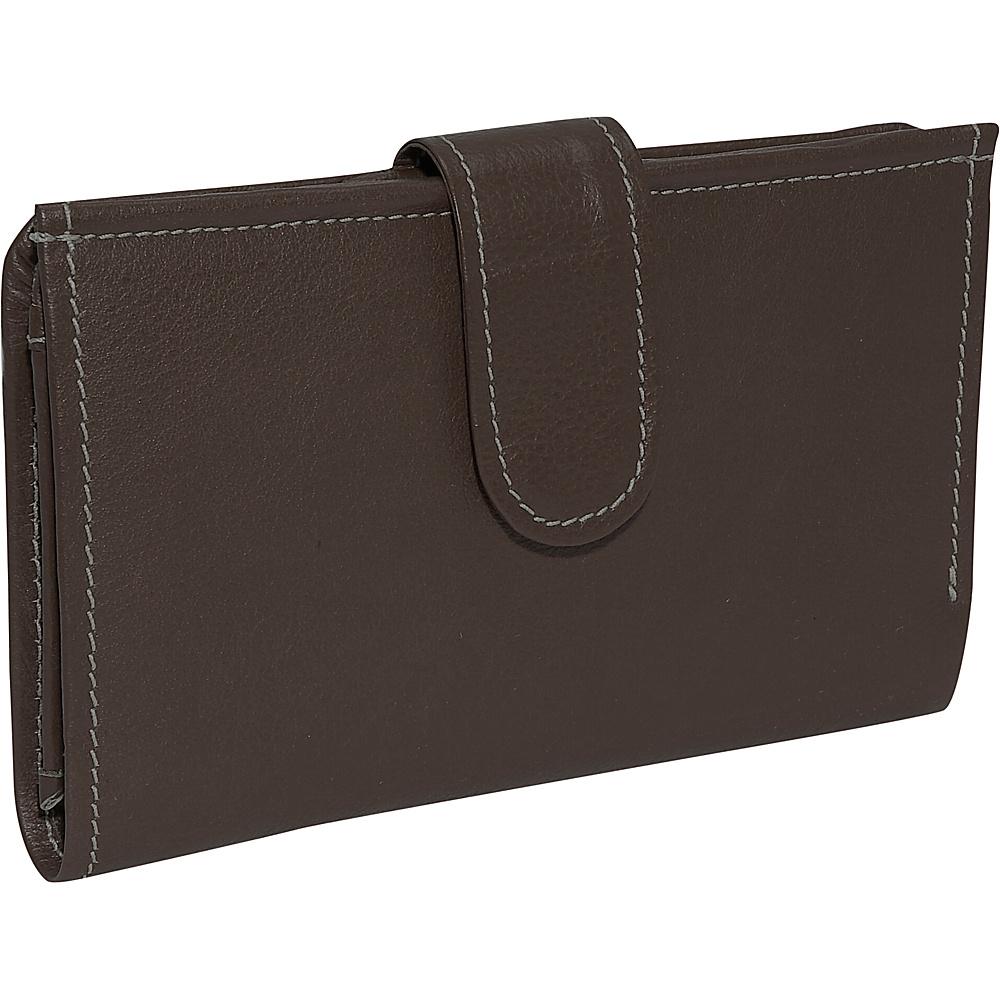 Piel Ladies Wallet - Chocolate - Women's SLG, Women's Wallets