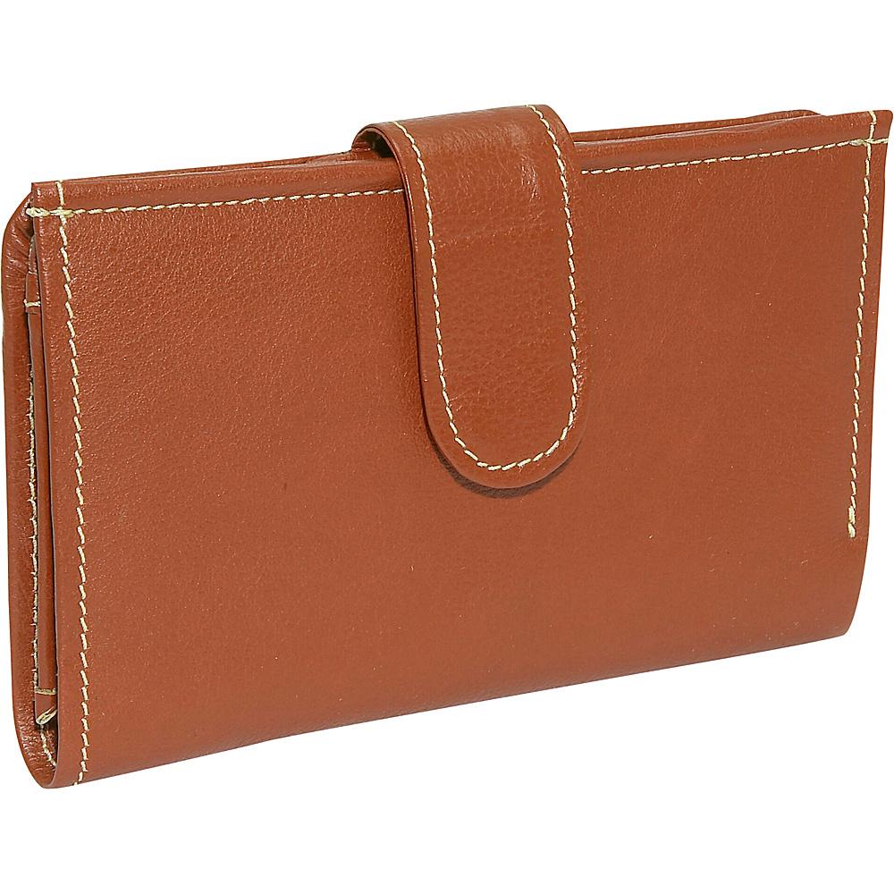 Piel Ladies Wallet - Saddle - Women's SLG, Women's Wallets