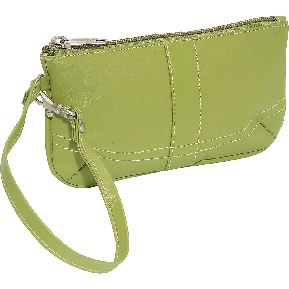 Piel Ladies Wristlet Bag - Apple