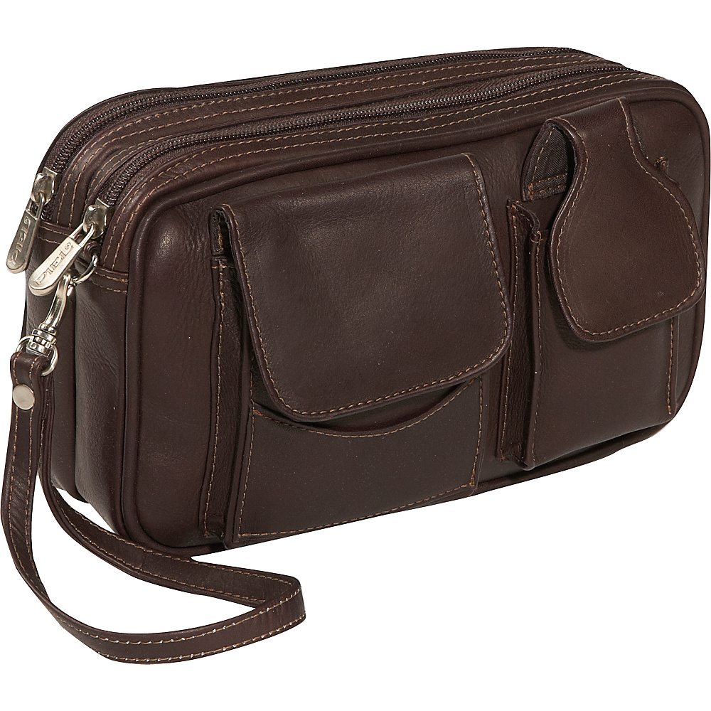 Piel Carry-All Mens Bag - Chocolate - Travel Accessories, Travel Wallets
