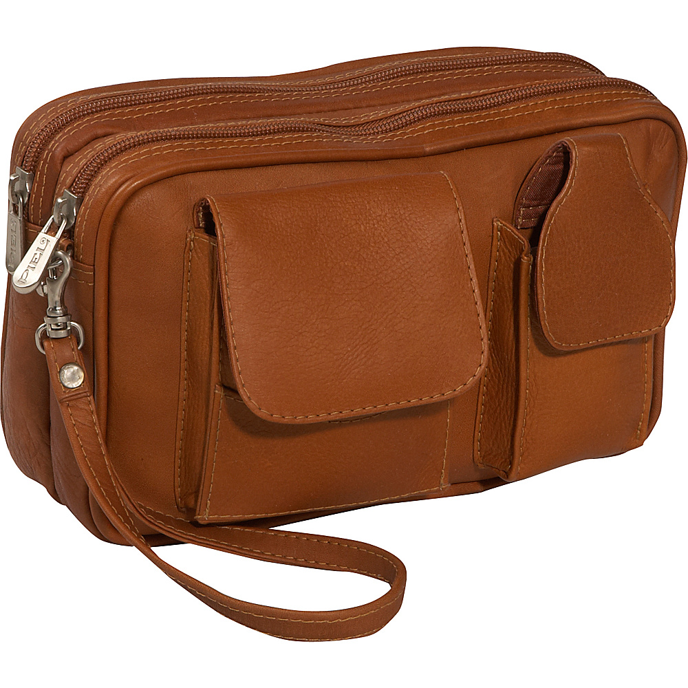 Piel Carry-All Mens Bag - Saddle - Travel Accessories, Travel Wallets