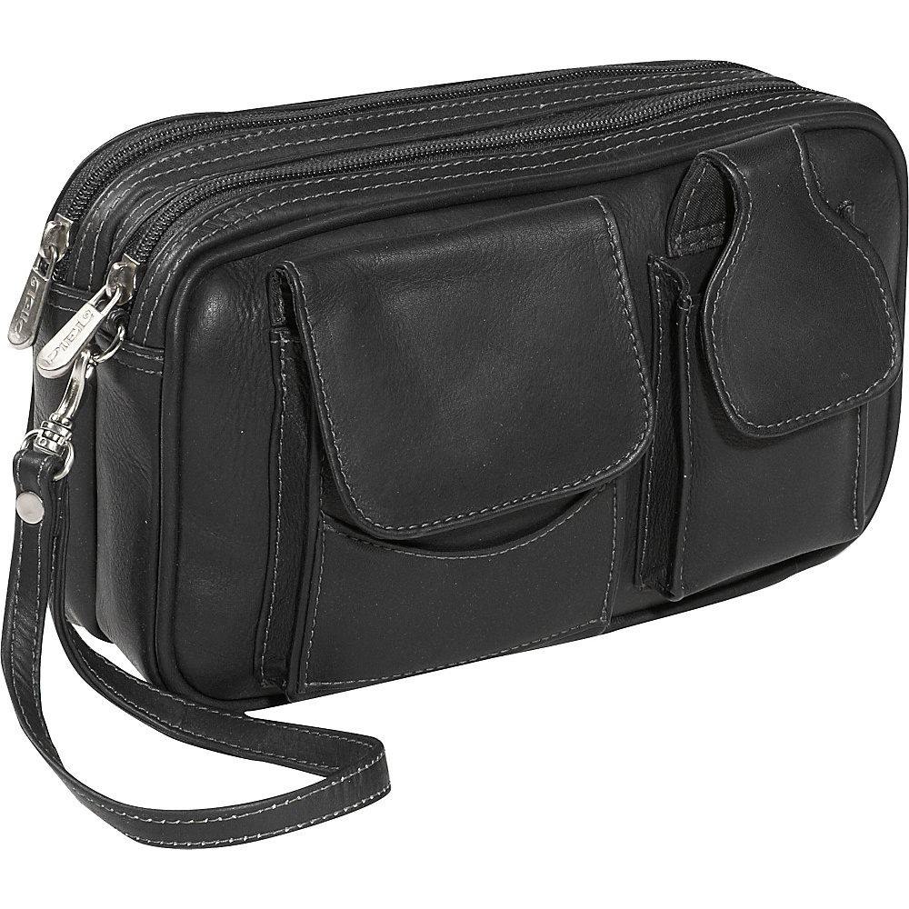 Piel Carry-All Mens Bag - Black - Travel Accessories, Travel Wallets