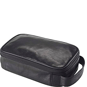Tuscan Leather Accessory/Toiletry Kit Tuscan Black