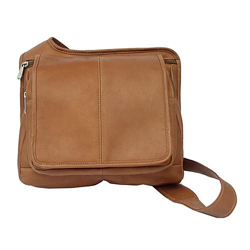 Piel Slim-Line Flap Over Lady's Bag - Saddle