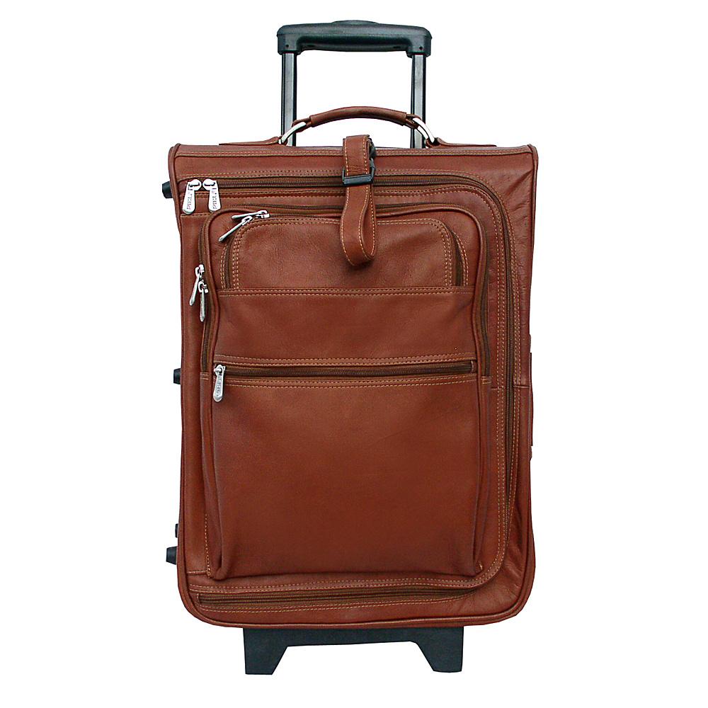 Piel 19 Multi-Pocket Wheeler - Saddle - Luggage, Softside Carry-On