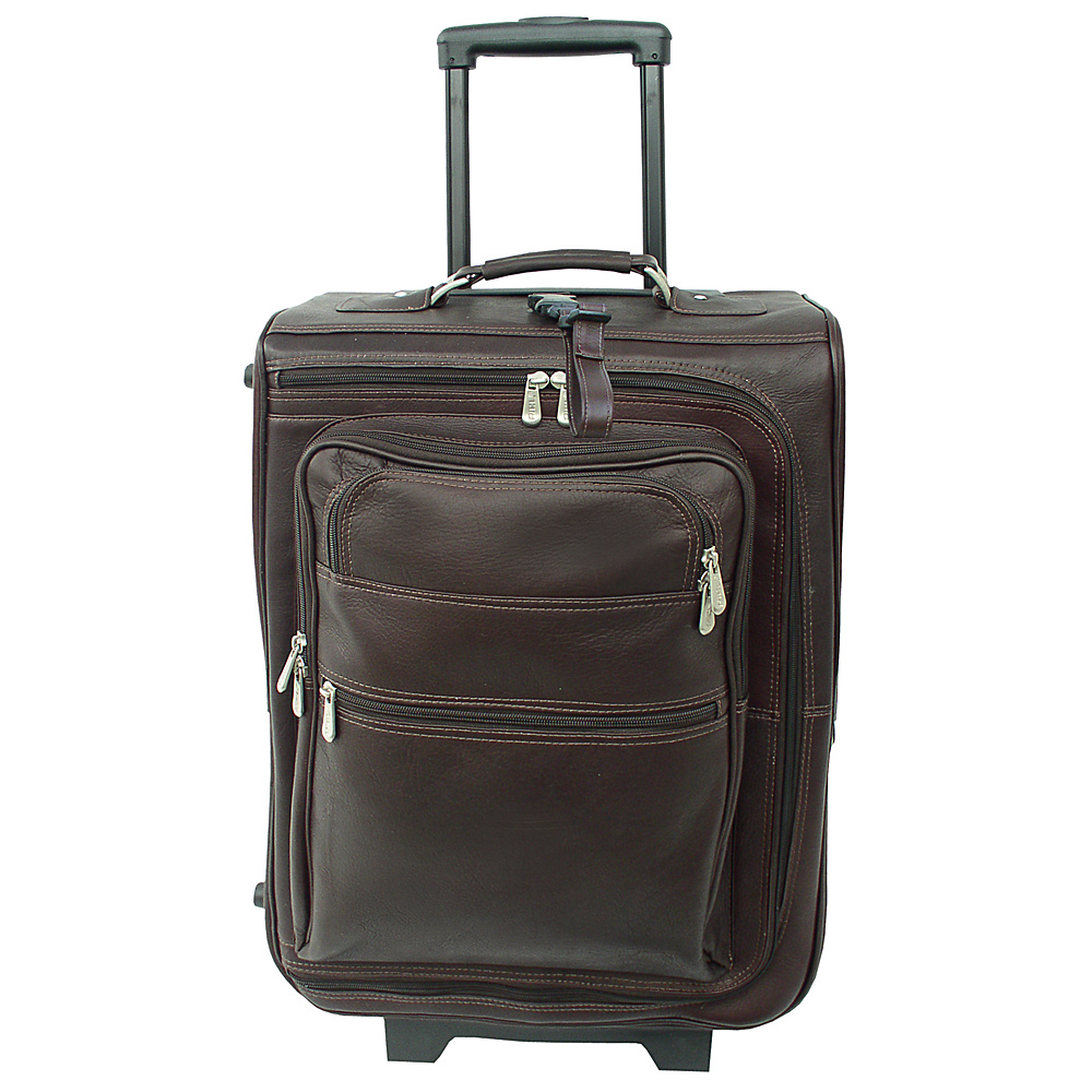 Piel 19 Multi-Pocket Wheeler - Chocolate - Luggage, Softside Carry-On