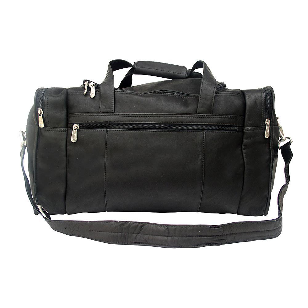 Piel Travel Duffle with Side Pocket - Black - Duffels, Travel Duffels