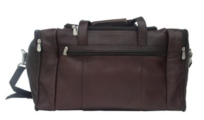 Piel Travel Duffle with Side Pocket - Chocolate