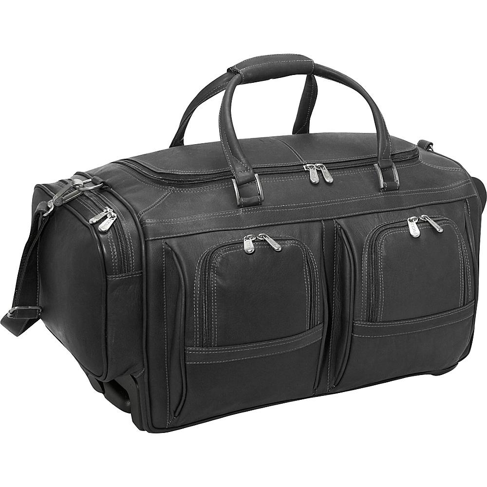 Piel Duffel 22 With Pockets on Wheels - Black - Luggage, Rolling Duffels