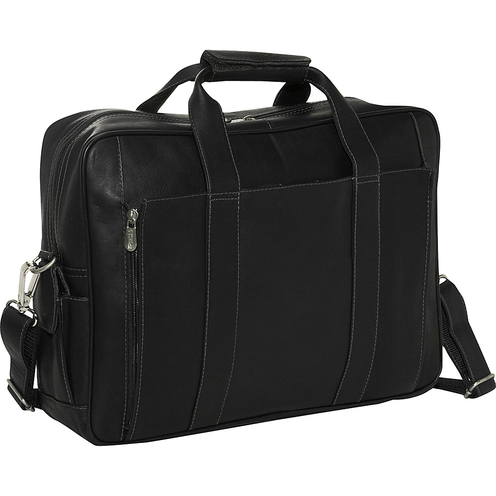 Piel Computer Briefcase - Black - Work Bags & Briefcases, Non-Wheeled Business Cases