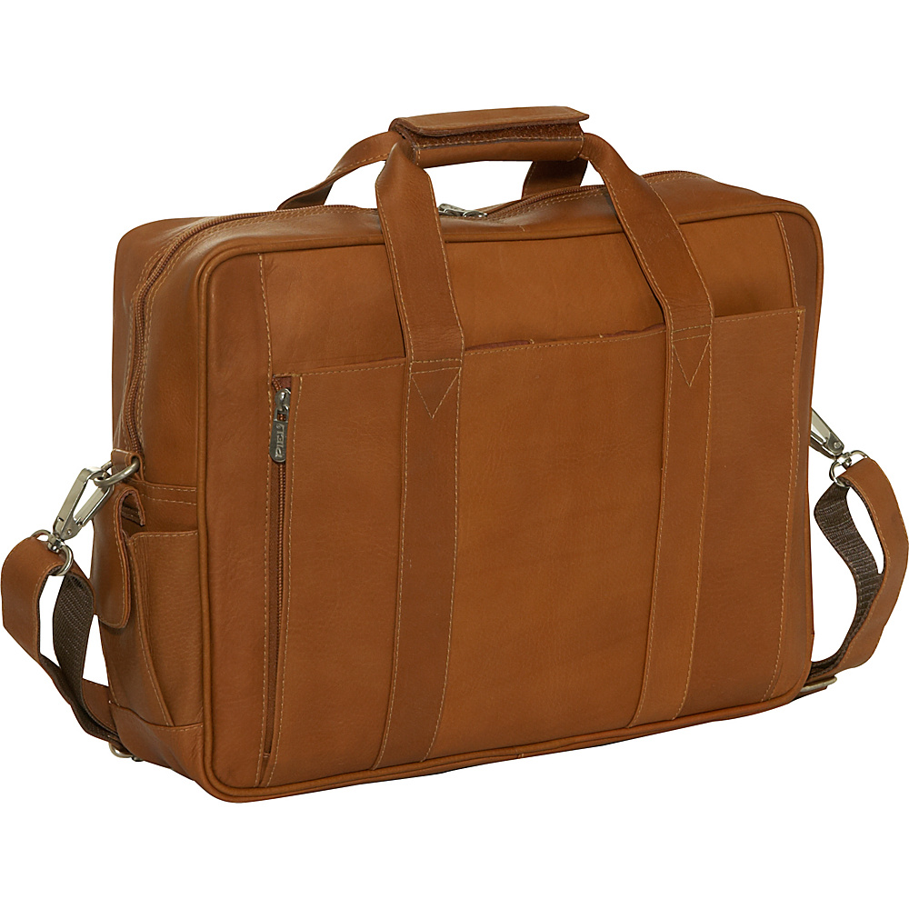 Piel Computer Briefcase - Saddle - Work Bags & Briefcases, Non-Wheeled Business Cases