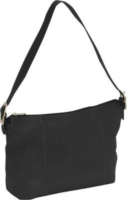 Piel Medium Shoulder Bag - Black