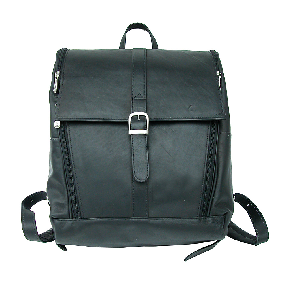 Piel Slim Computer Backpack - Black - Backpacks, Business & Laptop Backpacks