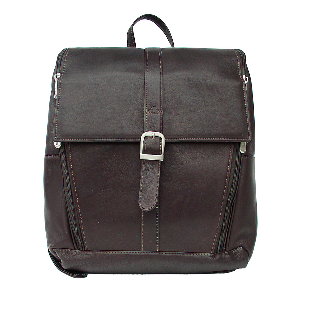 Piel Slim Computer Backpack - Chocolate - Backpacks, Business & Laptop Backpacks