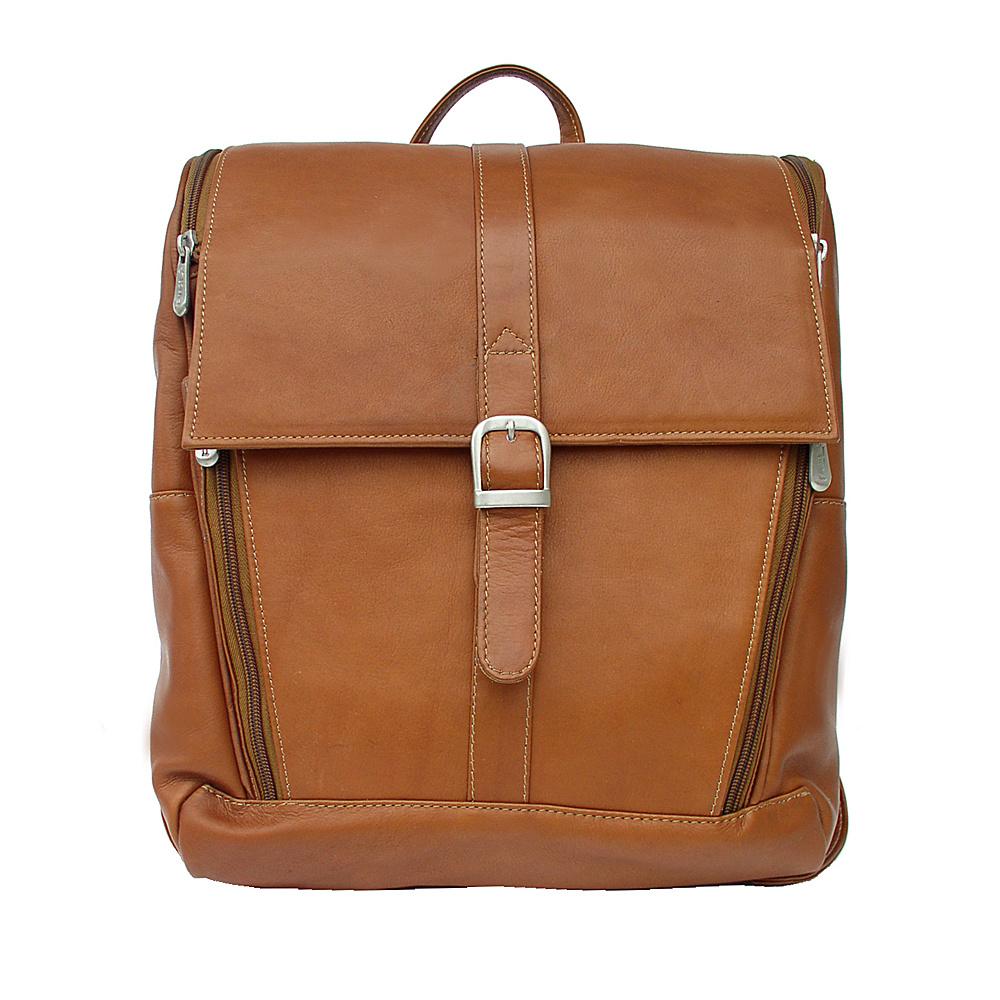 Piel Slim Computer Backpack - Saddle - Backpacks, Business & Laptop Backpacks
