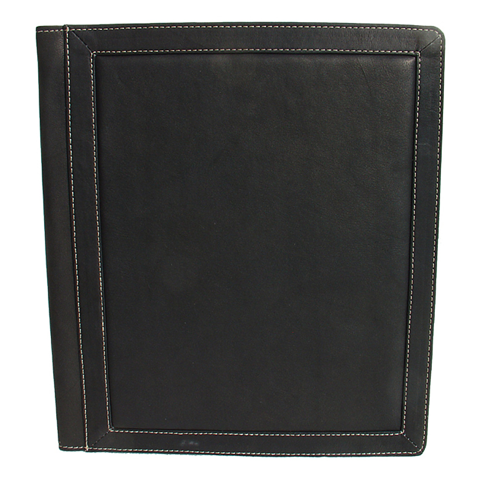 Piel Three-Ring Binder Folder - Black - Work Bags & Briefcases, Business Accessories