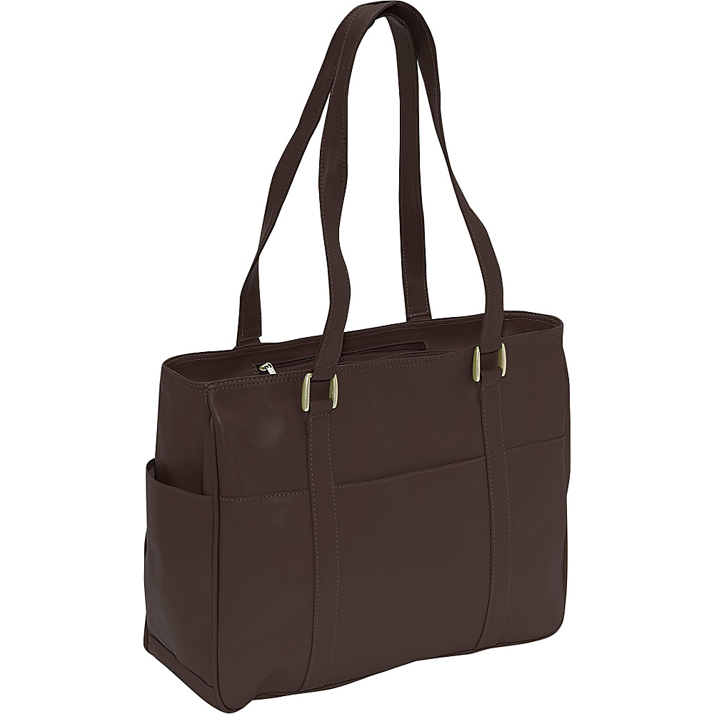 Piel Small Shopping Bag - Chocolate - Handbags, Leather Handbags