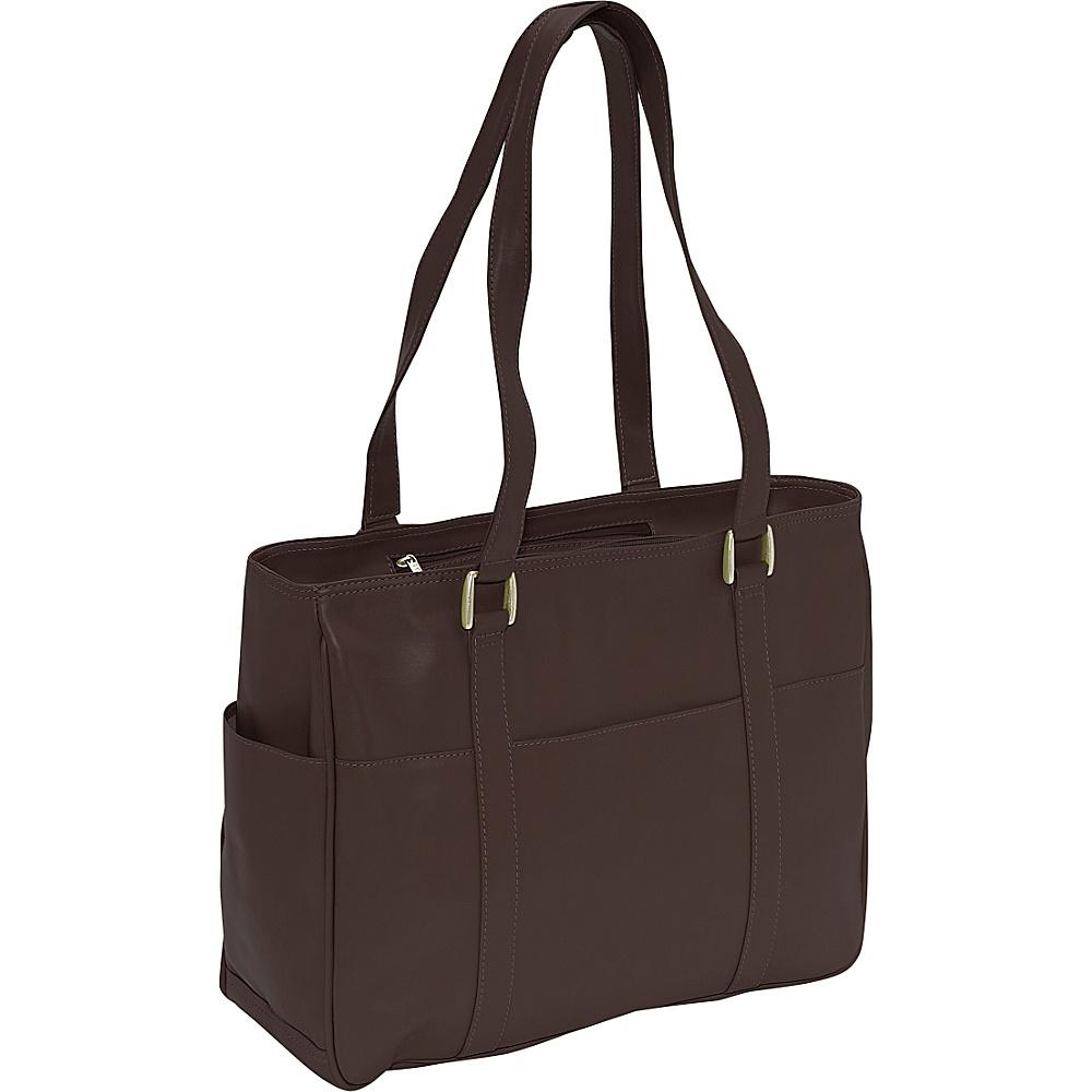Piel Small Shopping Bag - Chocolate - Handbags, Leather Handbags