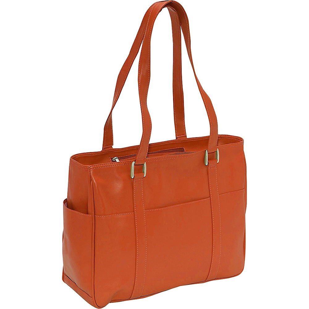 Piel Small Shopping Bag - Saddle - Handbags, Leather Handbags