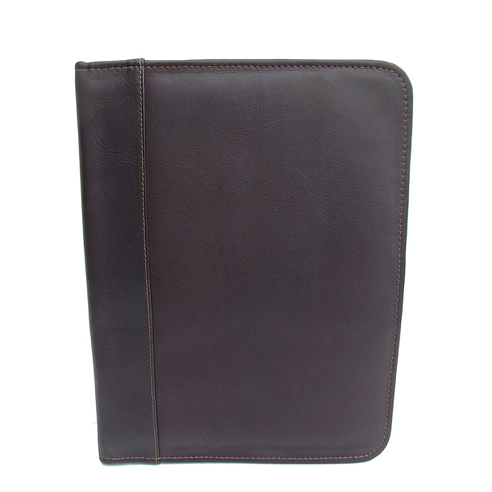 Piel Three-Ring Binder - Chocolate - Work Bags & Briefcases, Business Accessories
