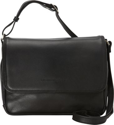 Derek Alexander Three-Quarter Flap Organizer - Black