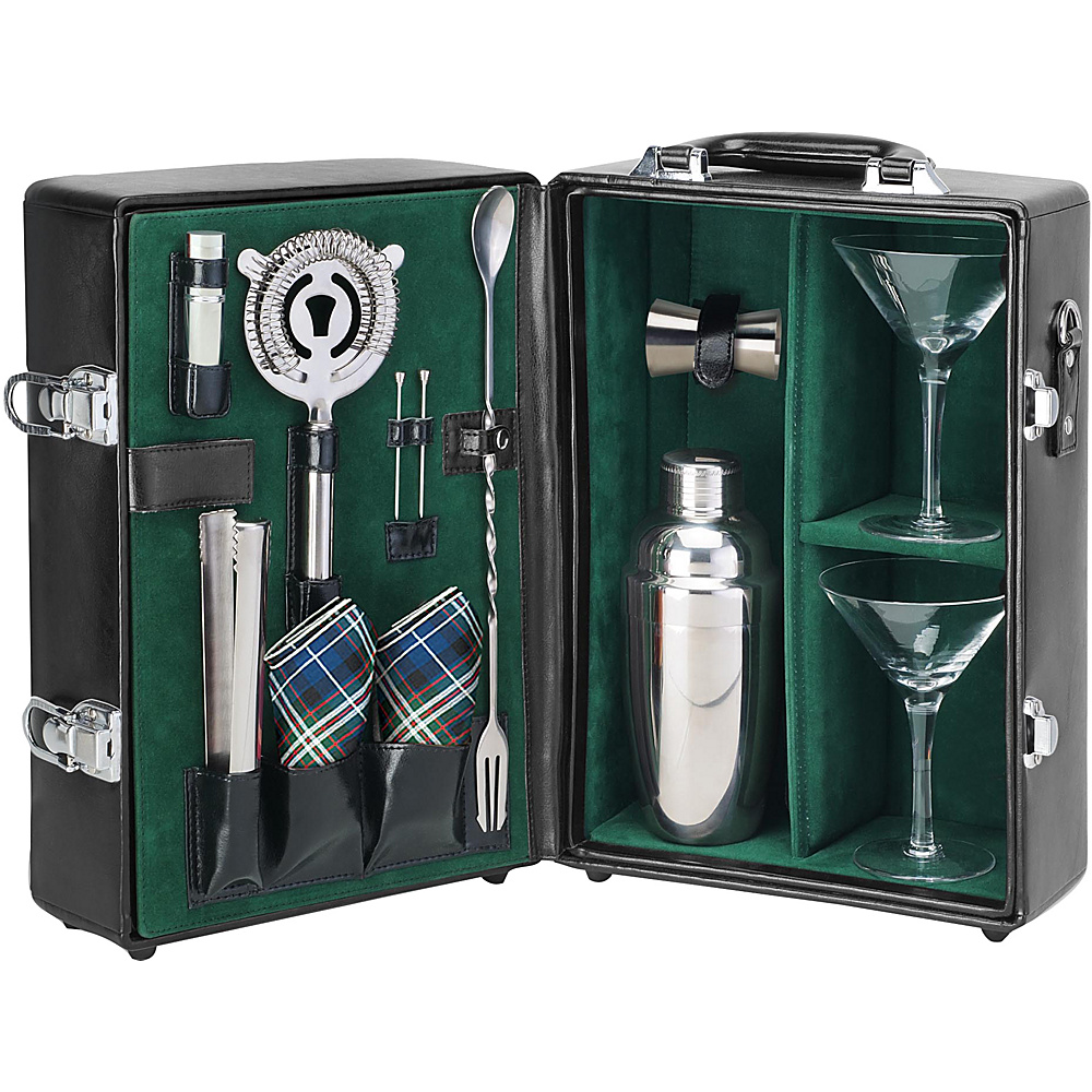 Picnic Time Manhattan Portable Cocktail Party Black Green Picnic Time Outdoor Accessories