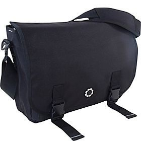 Messenger Diaper Bag Black