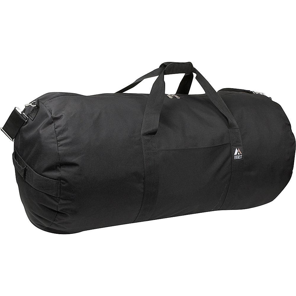 Everest 36 Round Duffel - Black - Duffels, Travel Duffels
