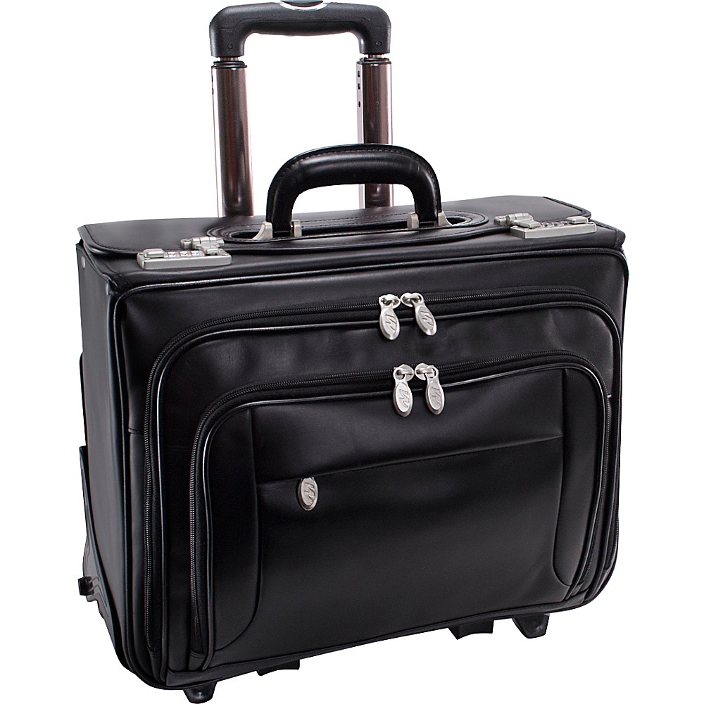 McKlein USA Sheridan Leather  Wheeled 17 Laptop - Work Bags & Briefcases, Wheeled Business Cases
