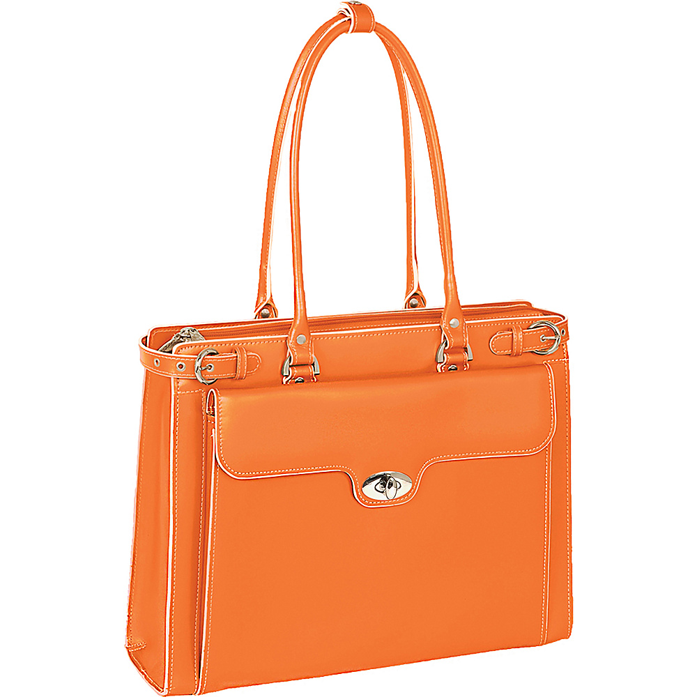 McKlein USA W Series Winnetka Leather Womens 15.4 Laptop Case Orange - McKlein USA Womens Business Bags - Work Bags & Briefcases, Women's Business Bags