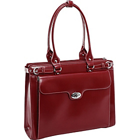 W Series Winnetka Leather Women's 15.4'' Laptop Case  Red
