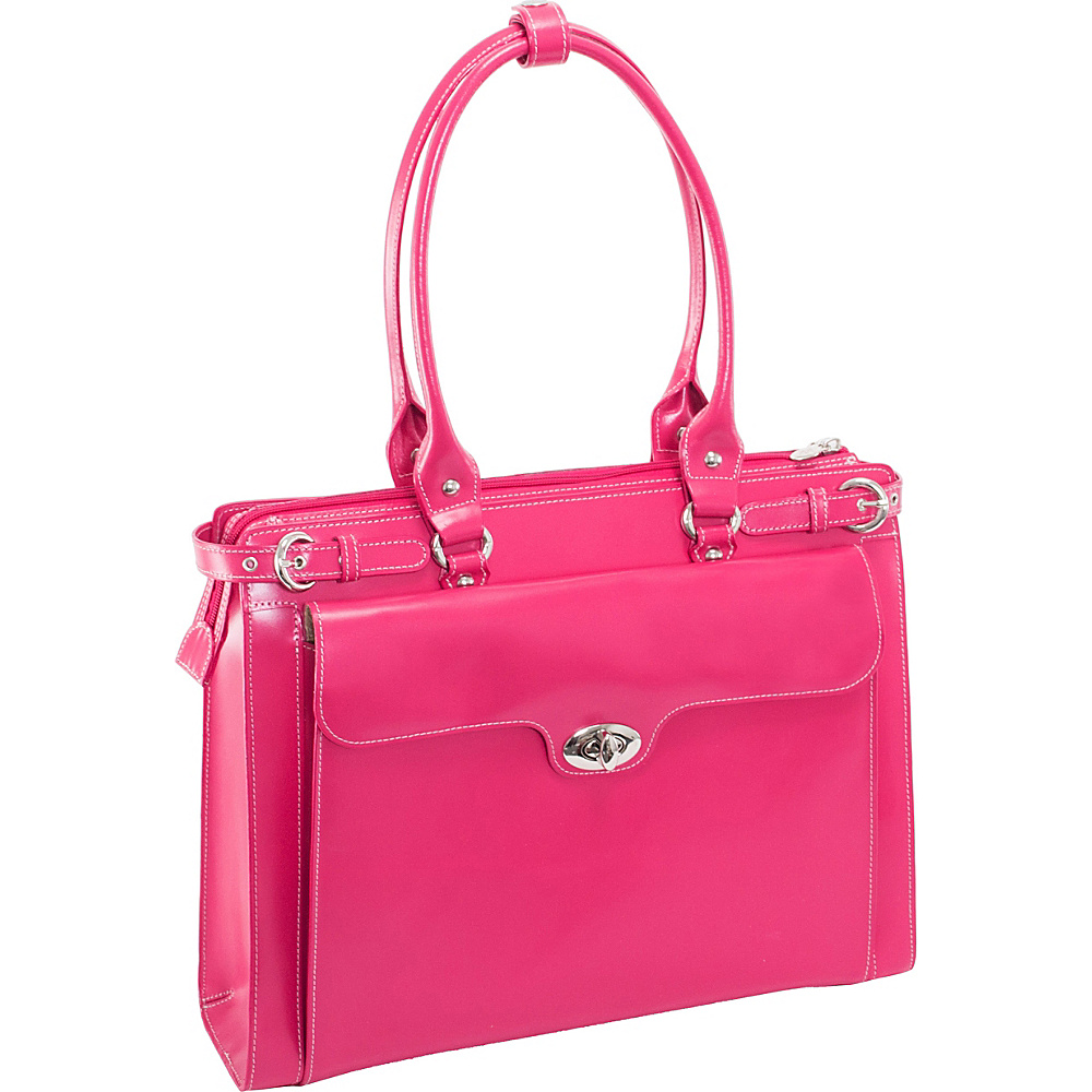 McKlein USA W Series Winnetka Leather Women s 15.4 Laptop Case Fuchsia McKlein USA Women s Business Bags