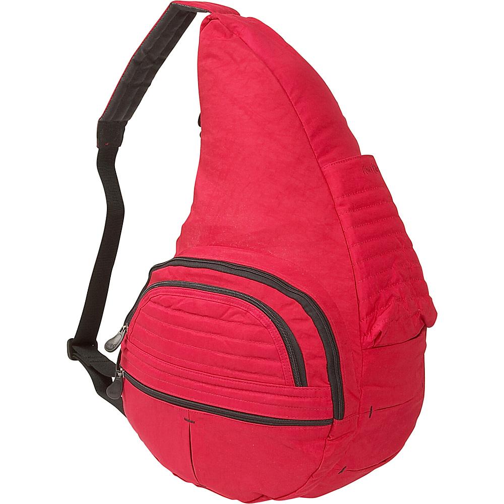 AmeriBag Healthy Back Baby Bag in Distressed Nylon Crimson - AmeriBag Fabric Handbags