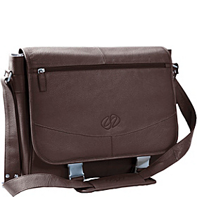 Premium Leather Shoulder Bag Chocolate