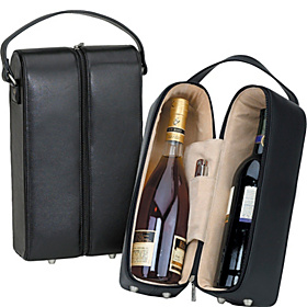 Leather Wine Case Black