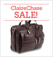 ClaireChase Leather Business and Laptop Bag Sale