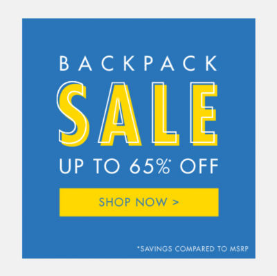 Backpack Sale - Up to 65% Off
