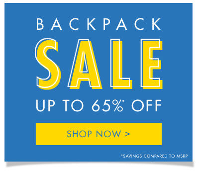 Shop Backpack Sale - Up to 65% Off!