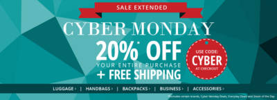 Extended! CYBER MONDAY 20%* Off Your Entire Purchase