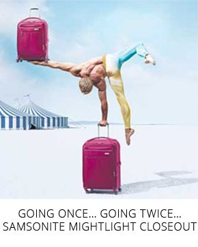 Going Once… Going Twice… Samsonite Mightlight Closeout