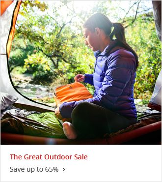 The Great Outdoor Sale Save up to 65%